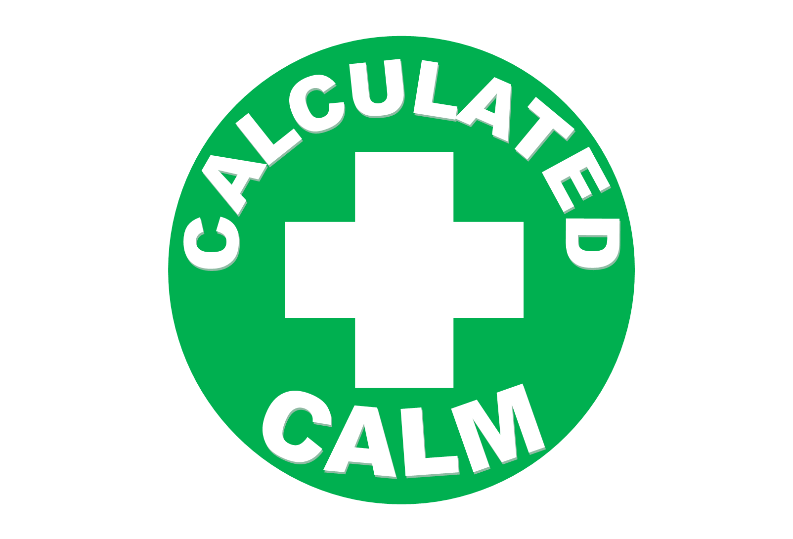 Logo for Calculated Calm on White
